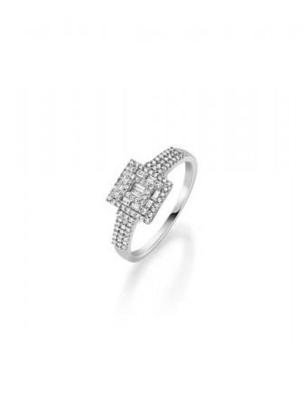 GD 100Diamonds SOPHIA hv.gull ring m/diamant 0,35 ct W/SI