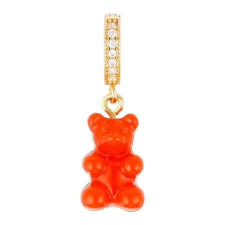 Nostalgia bear pave connector red