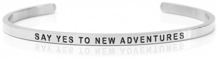 Daniel Sword Armring - Say yes to new adventures - Stål