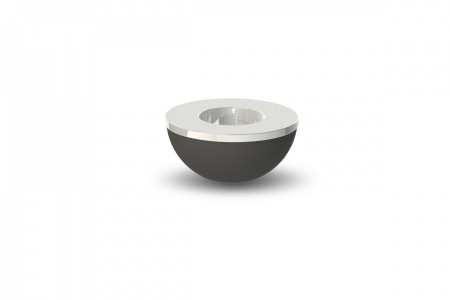 Light bowl black 8 cm