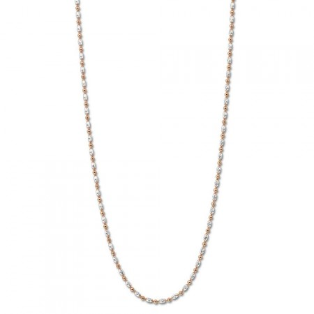 Necklace Oblongo Silver Rosegold-plated 80cm