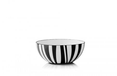 Cathrineholm Emaljeskål  Stripes Sort - 14cm