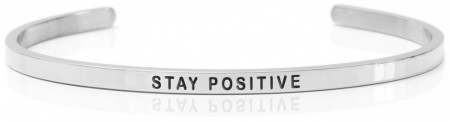 Daniel Sword Armring - Stay Positive - Stål