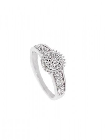 GRACE hv.gull ring m/diamant 0,25ct W/SI
