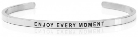 Daniel Sword Armring - Enjoy every moment - Stål