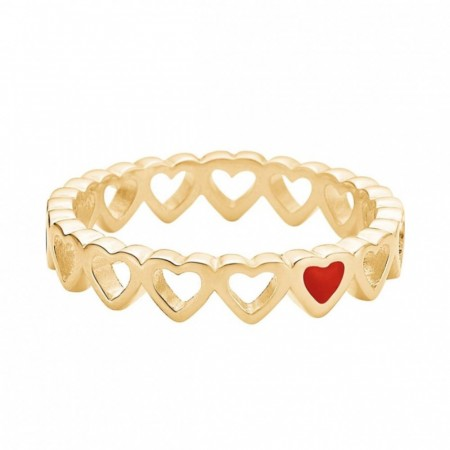 Ring, Enamel heart