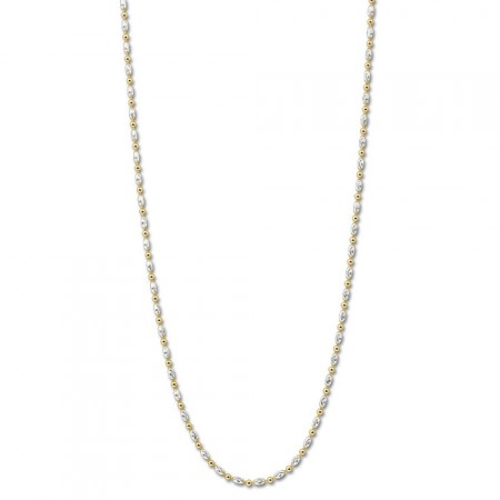 Necklace Oblongo Silver gold-plated 80cm