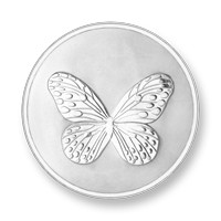 Elephant-butterfly silver-plated S