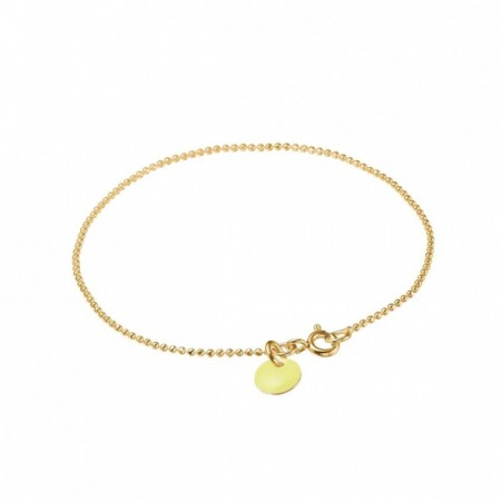 Ball Chain Bracelet New Light Yellow