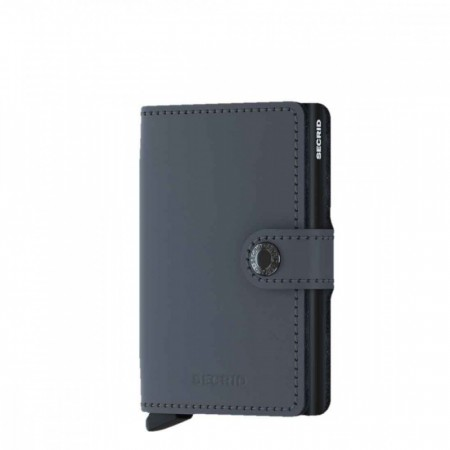Miniwallet matte grey-black