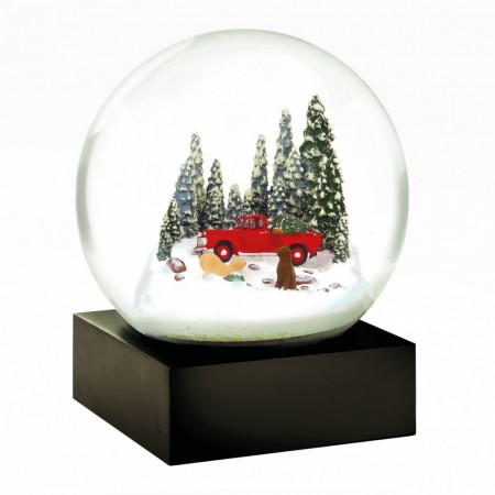 Snow Globe Red Truck w/ dog