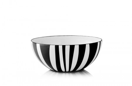 Cathrineholm Emaljeskål  Stripes Sort - 18cm