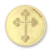 Cross and Rosary gold-plated M