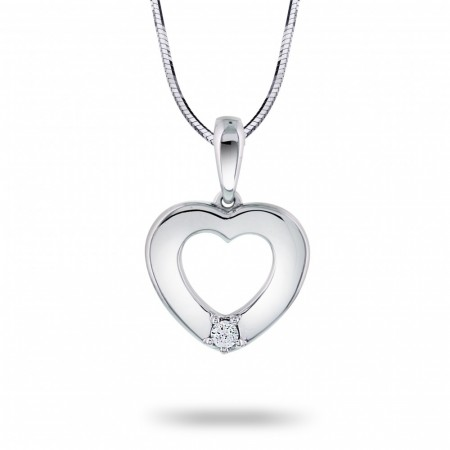 Nordic Collection anheng i gull med diamant 0,03 ct