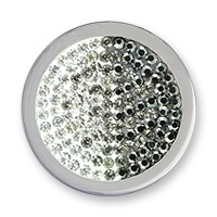 Diamond disc silver black-diamonds M