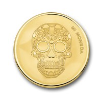 Skull and fire gold-plated S