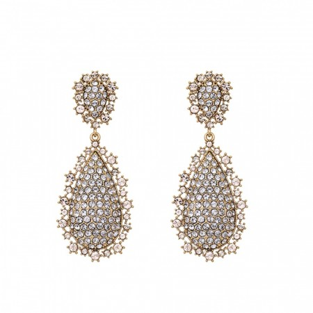 Macy earrings - Crystal (Gold)