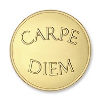 Carpe diem-live the life gold-plated L