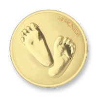 Baby feet-te quiero gold-plated M
